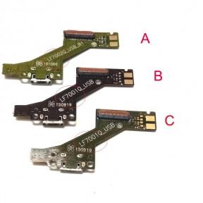 Нижняя плата Lenovo PB1-750M Phab с разьемом зарядки и микрофоном, зеленая, LF7001QSUB