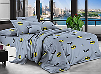 """Детское постельное бельё """"BATMAN"""" полуторное 150*220 хлопок (14495) TM KRISPOL Украина"""