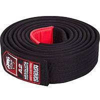 Пояс для кимоно Venum BJJ Belt - Black (EU-VENUM-0777), фото 1