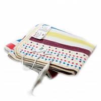 Простынь электрическая с сумкой Electric Blanket 150х120см (полосы, Цветная)