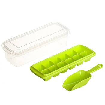 Форма для льоду з контейнером і лопаткою STENSON 27 х 10 см (82590)