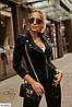 Женская куртка, карманы обманки. Цвета: черный, голубой, красный, беж. Ткань: замш-стрейч., фото 8
