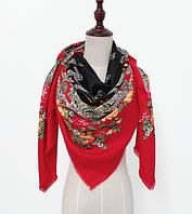 Платок Катерина в народном стиле 145*145 см красный