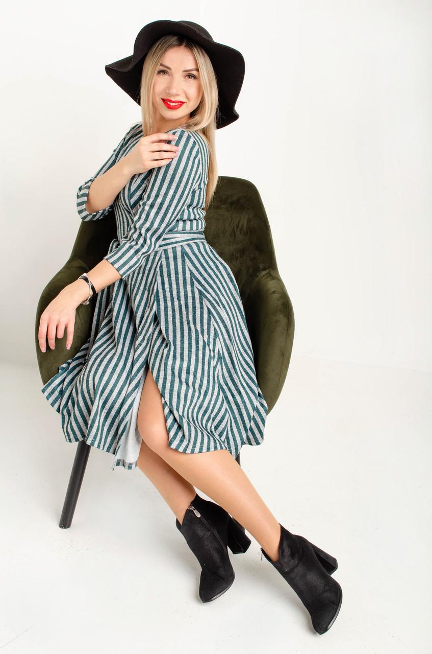 Платье женское с запахом из ангоры
