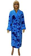 Халат пушистый цветной (женский) Massimo Monelli, фото 1