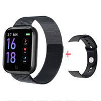 Фитнес браслет Smart Band T80s (измерение температуры, тонометр, пульсометр, шагометр) + браслет в подарок