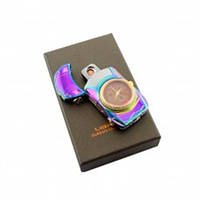 Зажигалка спиральная USB-813 + часы