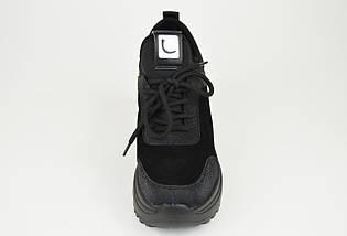Ботинки женские замшевые черные Lonza 99759, фото 2
