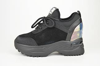 Ботинки женские замшевые черные Lonza 99759, фото 3