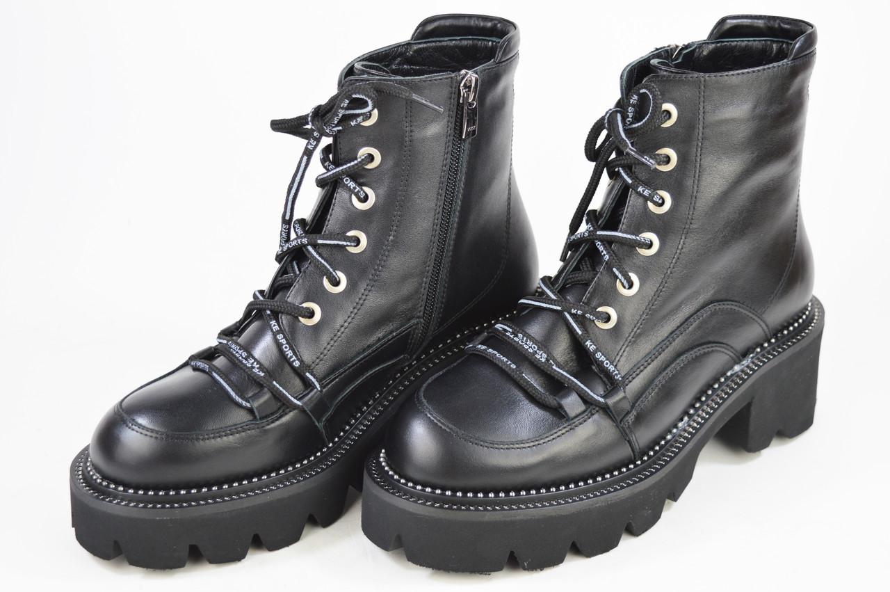 Ботинки Lottini 25205 кожаные цигейка