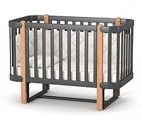 Кроватка Верес Соня Монако ЛД5 с маятниковым механизмом Темно-серая