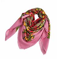 Платок Катерина в народном стиле 145*145 см розовый
