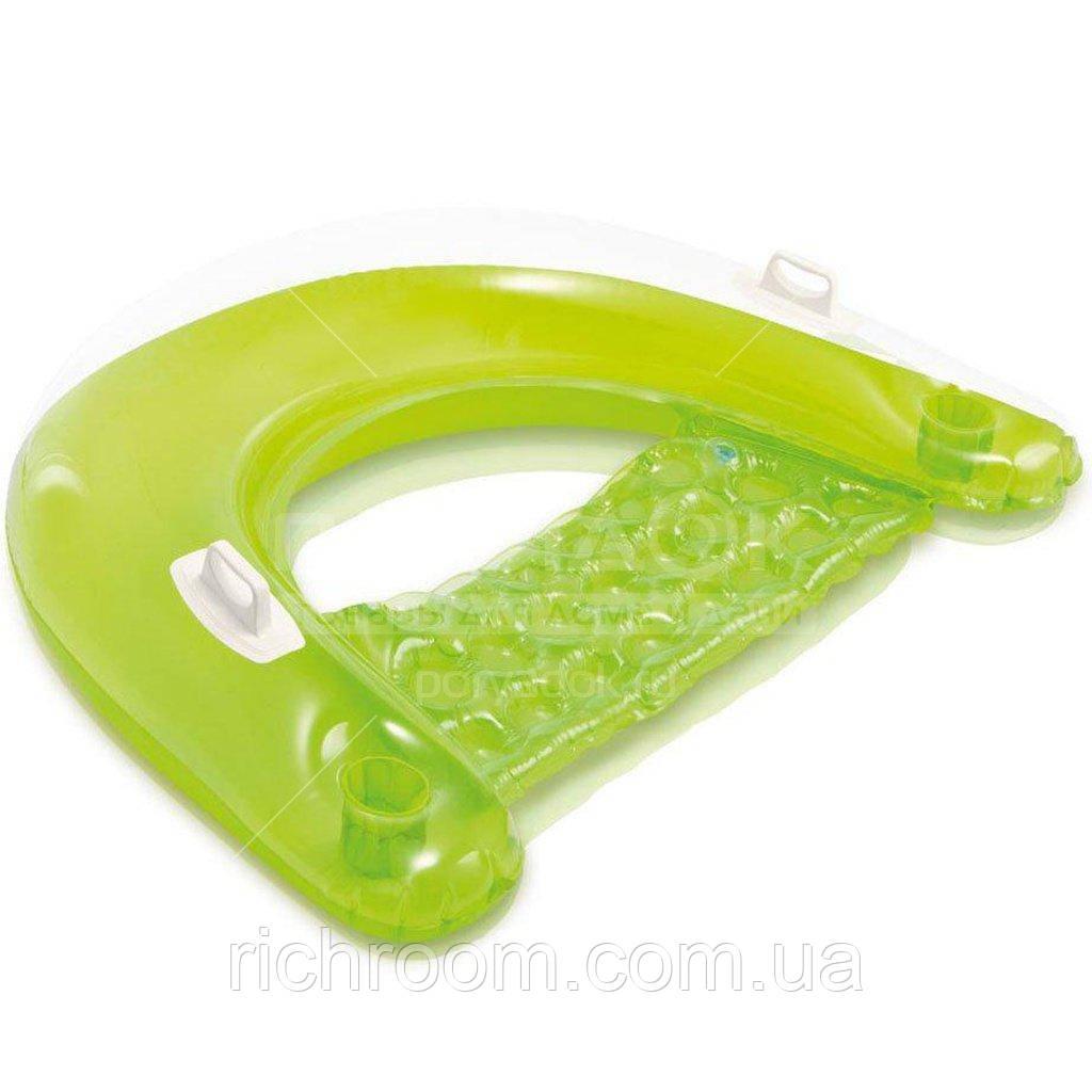F2-00282, Плавающее надувное кресло Intex с ручками и подстаконником152 х 99 см, плавающее сиденье I