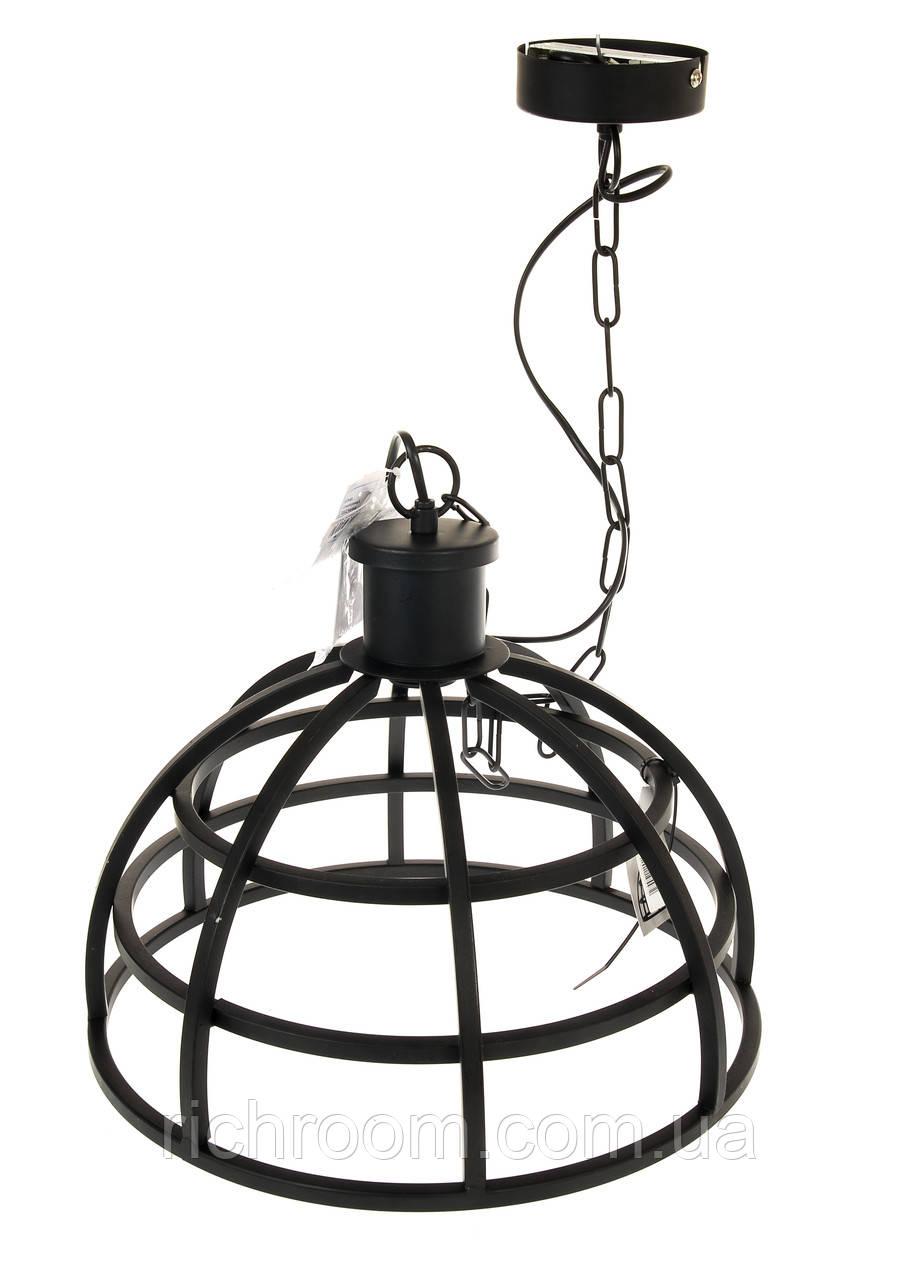 F2-00283, Металлическая подвесная люстра Edeka, E27, Ø 36 см , , черный