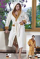 Мужской халат с капюшоном очень теплый Nusa NS 7210-1