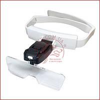 Бінокулярна лупа окуляри TH-9201, збільшувальні окуляри для косметолога, легка вага, компактні