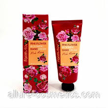 Крем для рук Троянда Farm Stay Pink flower Blooming Hand cream Rose