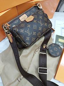 Женская Louis Vuitton Multi Pochette Brown