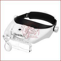 Увеличительные очки MG81000GC, бинокуляр с аккумуляторной подсветкой и сменными линзами
