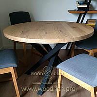 Круглый обеденный стол из дуба