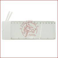 Увеличительная линза Френеля 805-1, линейка, лупа настольная (5X) Размер 150*70мм.