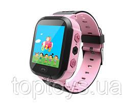 Дитячий телефон-годинник з GPS трекером GoGPS Me K12 рожевий (К12РЗ)