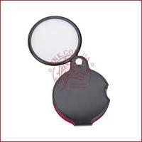 Линза карманная в чехле, лупа карманная (диаметр 50мм 5.5x стекло (XX-1050))