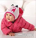 Шапка демисезонная Киска для девочки розовая (AJS, Польша), фото 2