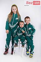 Костюм детский теплый спортивный двойка - Зеленая бутылка