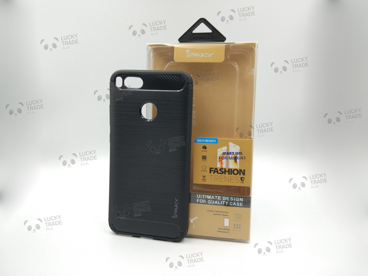 Силиконовый чехол Ipaky TPU Xiaomi Mi 5X / A1 бампер накладка Черный [1238]