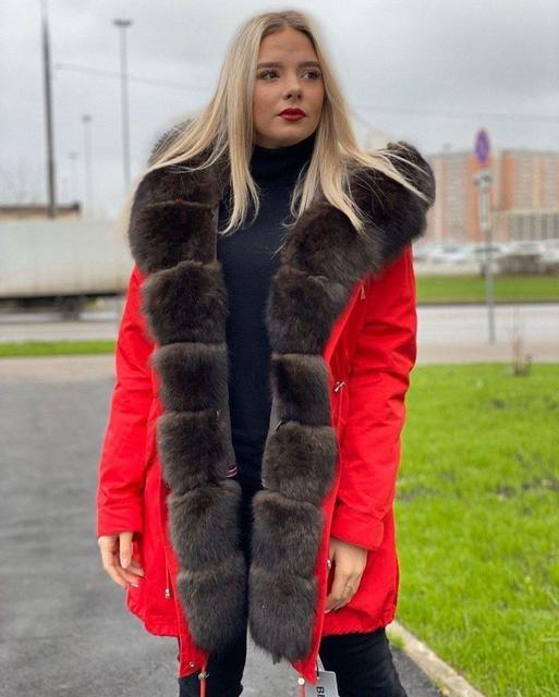 Парки,Куртки,Косухи жіночі з натурального хутра