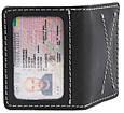 Оригинальная обложка для водительских документов из натуральной кожи Black Brier ОП-10-35 черный, фото 3