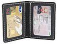 Оригинальная обложка для водительских документов из натуральной кожи Black Brier ОП-10-35 черный, фото 4