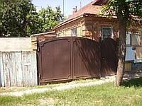 Листовые арочные ворота с кантиком