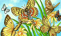"""Схема для вышивки нитками """"Бабочки виньетки"""""""