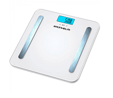 Весы напольные GRUNHELM BES-BFS макс. вес 180кг, квадратные 65х28см, с батареей 1х3VCR2032