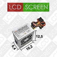 Компьютерный блок питания LogicPower БП MICRO  MATX 400W, 8 cm, без кабеля, 2 SATA, OEM