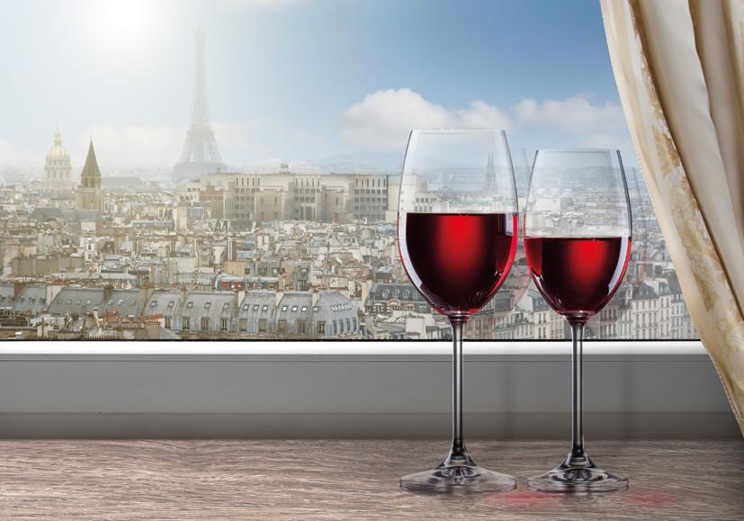 """Картина на стекле """"Окно в Париж"""""""