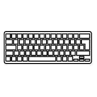Клавиатура ноутбука MSI Wind U135/U160 белая с белой рамкой RU (V103622BK1)