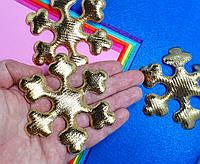 Декор Снежинка Ø8см , Золото, фото 1