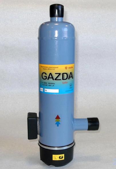 Котел электрический GAZDA-turbo ВЕ-3-9, электродный трьохфазный водонагреватель 7/9 кВт