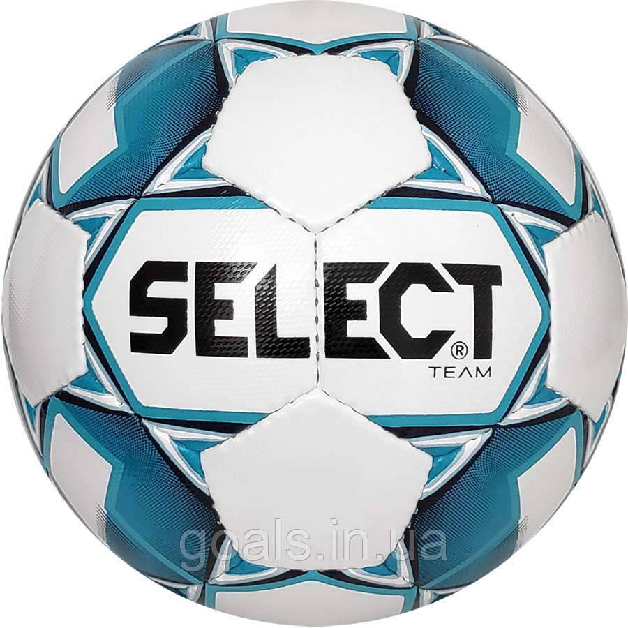 Мяч футбольный SELECT Team  (014) бело/голубой р.4