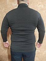 Батальная водолазка мужская антрацит , гольф мужской серый 3xl-5xl, мужская водолазка огромного размера,