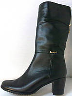 Сапоги кожаные черные молния, фото 1