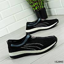 """Кроссовки мужские, черные """"Dexe"""" текстильные, мокасины мужские, кеды мужские, обувь мужская, фото 2"""