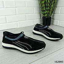 """Кроссовки мужские, черные """"Dexe"""" текстильные, мокасины мужские, кеды мужские, обувь мужская, фото 3"""