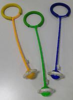 Скакалка MS 3253-1 светящаяся нейроскакалка на одну ногу, 63см, свет, батарейки