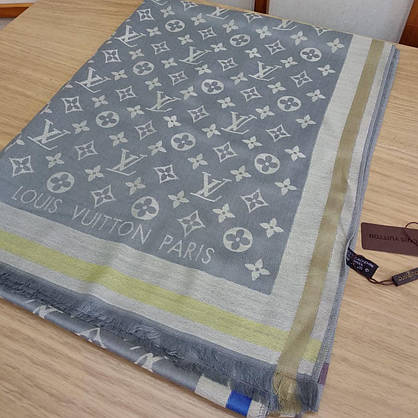 Палантин Louis Vuitton серый, фото 2