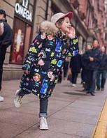 Крутая зимний удлиненный пуховиик на девочку подросток 110-160  Фабричный Китай в наличии!!, фото 1