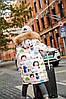 Крутой зимний удлиненный пуховиик на девочку подросток 110-160  Фабричный Китай в наличии!!